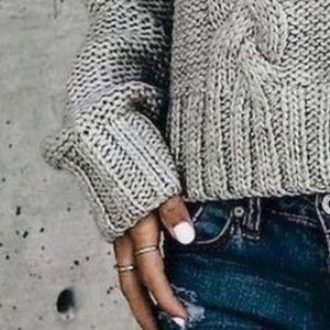 Chunky Knit Grey Sweater